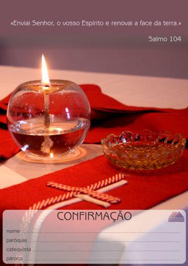 Folheto Crisma – Diocese de Vila Real – Frente