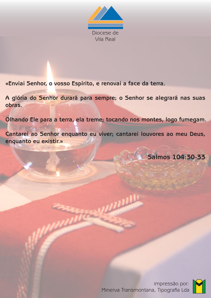 Folheto Crisma – Diocese de Vila Real – Verso